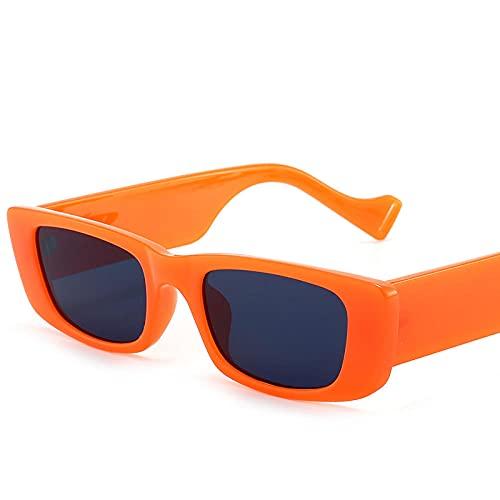 Gafas de sol cuadradas retro caja pequeña hombres y mujeres tendencia europea y americana gafas de sol gafas de sol-Bean flor marco tea_Introduction