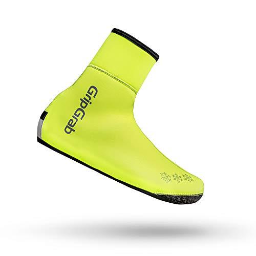 GripGrab Unisex-Adult Arctic Waterproof Deep Winter Überschuhe Fahrrad, Yellow Hi-Vis, (44/45)