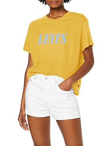 Levi's Graphic Varsity Tee T-Shirt, Serif Gold Coast, XS Femme