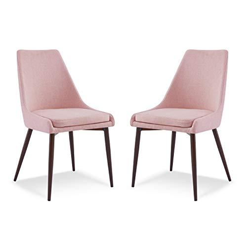 Edgemod Ethen Dining Chair, Set of 2, Pink