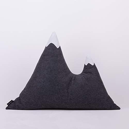 coopz vilten kussen bergkussen knuffelkussen 1 bergpunt in grijs of 2 bergpunten in antraciet of lichtgrijs - handgemaakt antraciet