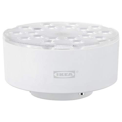 Juego de 2 bombillas LED IKEA LEDARE GX53, 600 lúmenes, intensidad cálida, ángulo de haz ajustable.