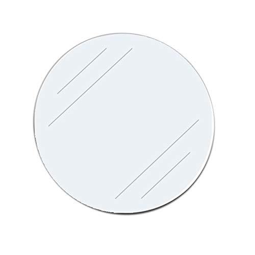 Klebeetiketten selbstklebend | Transparent | Durchmesser & Menge wählbar | Einseitige Klebepunkte