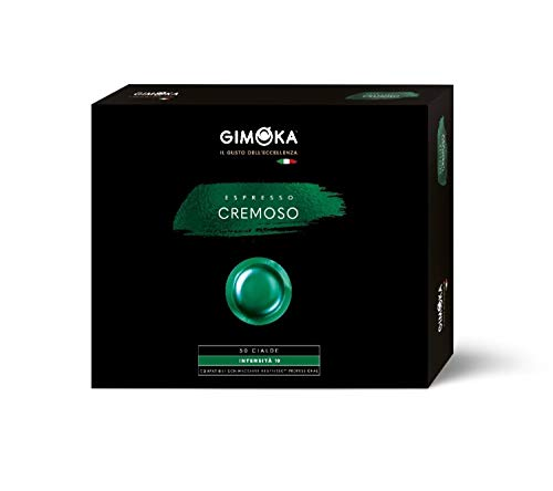 Gimoka Vainas de café | Nespresso* Cápsulas Profesionales Compatible para Zenius y Gemini | Sabor Cremoso | 50 Pastillas de Café