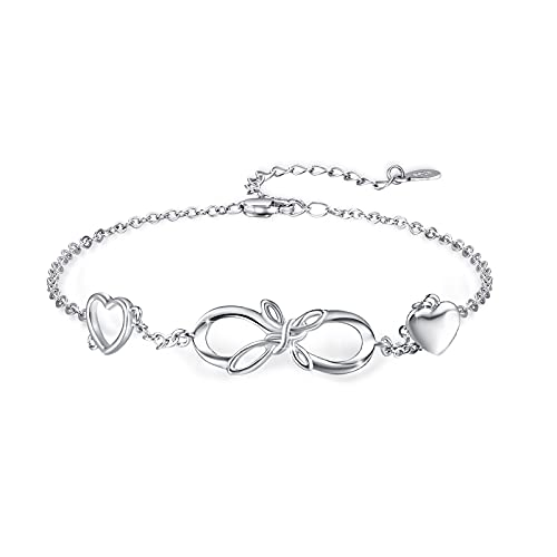 Celtic Bracelets 925 Sterling Silver Infinity Cross Bracelets Celtic Knot Bracelets Irish Jewelry Gift for Women Girls