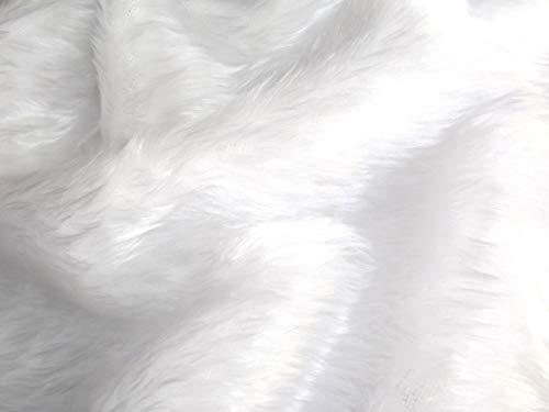 CRS Fur Fabrics Kunstfell-Stoff, Hellweiß