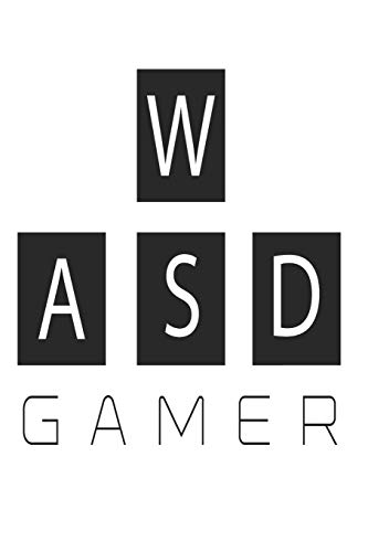 WASD Gamer: 6x9 Wide Ruled 100 Sheets Journal