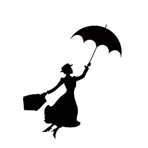 13 cm x 13 cm Mary Poppins etiqueta engomada del coche calcomanía coche portátil ventana decoración de la pared car styling negro/plata pegatinas de coche pegatina de pared frases