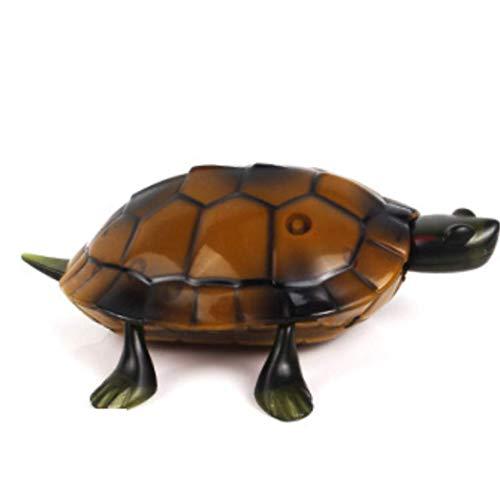 Ltong Fernbedienung Spielzeug Simulation Schildkröte Elektrische Tier Kann Kinder Geschenk Braun 9 * 11,5 cm Gehen