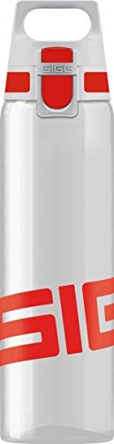 SIGG Total Clear ONE Red Trinkflasche (0.75 L), schadstofffreie und auslaufsichere Trinkflasche, leichte und bruchfeste Trinkflasche aus Tritan