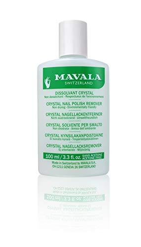 Mavala Crystal Quitaesmalte de Uñas sin Acetona | Elimina el esmalte de Uñas de Forma Rápida y Eficaz Quitaesmalte Ecológico Sin Olor, 100 ml