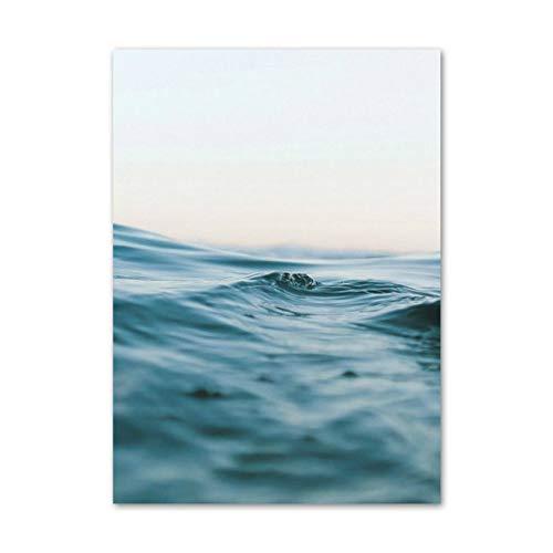 Mädchen Surfing Beach Landschaft Wandkunst Leinwand Malerei Nordic Poster und Drucke Wohnzimmer Dekoration Wand 40x50cm