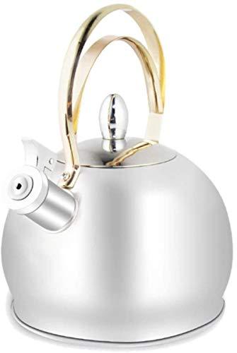 Cocinas, calderas 3 litros caldera de acero estufa de vitrocerámica calderas tradicionales eléctrica silbido del gas de agua calentador de agua Placa de inducción olla tetera de té de.