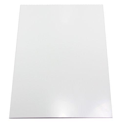 first4magnets™ Glänzend weiße Flexible A4 Magnetfolie (297 x 210 x 0,85 mm) (1 Packung), Metall, Silver, 25 x 10 x 3 cm