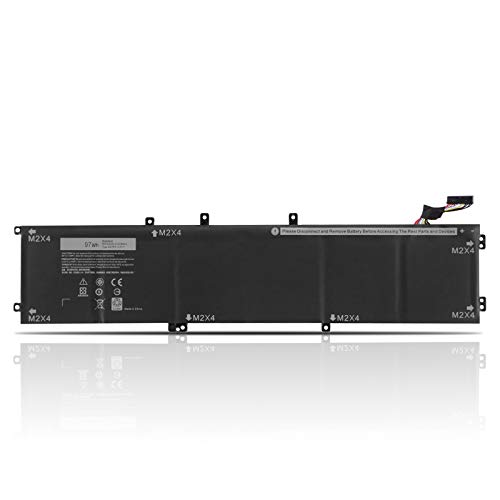 6GTPY Extended Laptop Battery for Dell XPS 15 9560 9570 7590(2019 model) P56F001 P56F002 Precision 5520 5530 5540 2-in-1 Mobile Workstation Vostro 7500 5XJ28 5D91C 5041C 05041C GPM03 0GPM03 97Wh