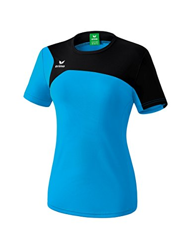 Erima Damen Club 1900 2.0 T-Shirt, curacao/schwarz, 38