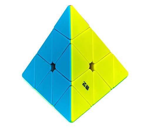 Cubo Mágico Profissional Pyraminx QiYi Pirâmide sem adesivo