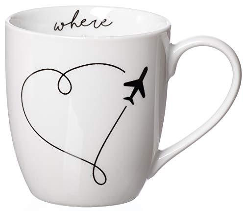 Zauberwerk Kaffeebecher XXL Wanderlust Heart, 500 ml