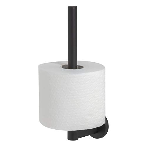 Tiger Noon Reserverollenhalter, Toilettenpapierhalter aus Edelstahl, Farbe: Schwarz, B x H x T: 5 x 24,5 x 9,4 cm