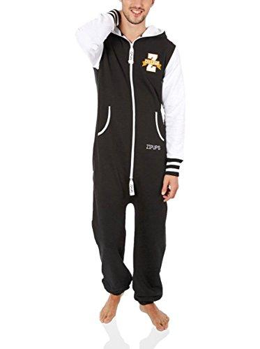 ZIPUPS Jumpsuit Team Spirit schwarz/weiß L