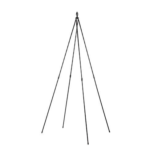 Garden Gear 1.8 Metre Tepee Trellis Obelisk, Metal Outdoor Climbing Plant Support, Weather Resistant