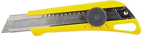 Tajima LC521YB Cutter 18 mm avec magasin/blocage par molette, Jaune