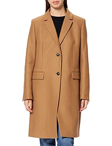 Tommy Hilfiger Damen TH ESS Wool Blend Classic Coat Daunenmantel, Landschaft Khaki, 44