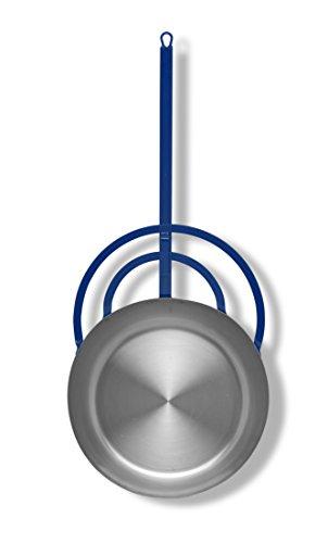 Vaello La Valenciana 6740 Miguera-Sartén con Mango Largo, 40 cm, Acero, Plateado