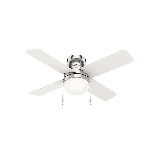 Hunter Fan Company 50358 Timpani Ceiling Fan, 44, Brushed Nickel