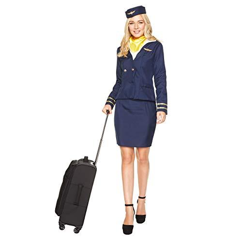 Karnival- Blue Flight Attendant Costume, Women, 81050, Bleu, s