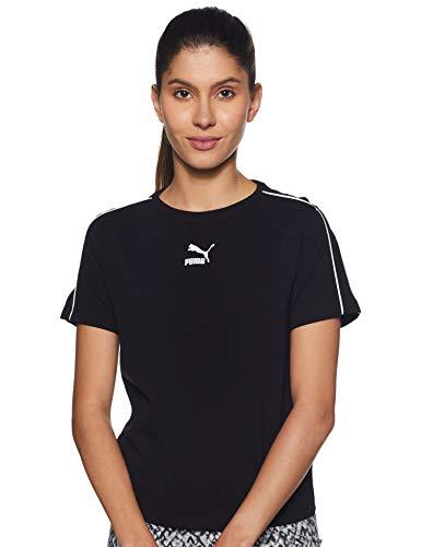 Puma Classics Tight Top T-Shirt Femme, Black, S