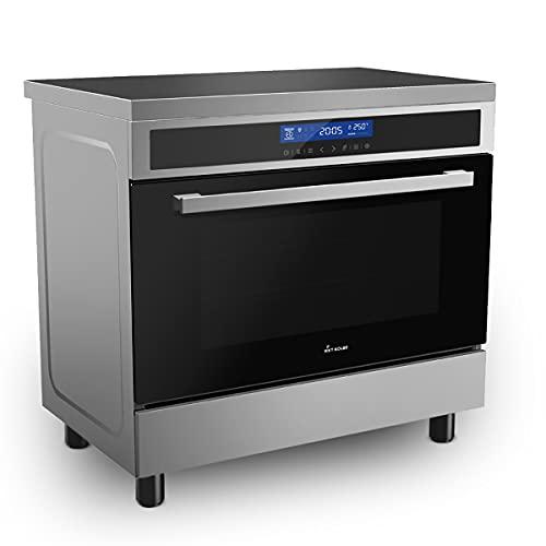 KKT KOLBE Fours et cuisinières avec plaque à induction / 90 cm / 11,4 kW / 108 l / 4 zones/zone flexible / 15 niveaux de chaleur/coulisse télescopique à sortie totale/rôtissoire/grille / CC9001IND