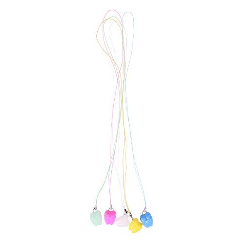 HEALIFTY Caja de almacenamiento de dientes Bebé encantador Organizador de dientes deciduos con collar Caja Regalo para niños 5PCS (rosa, amarillo, blanco, púrpura, verde)