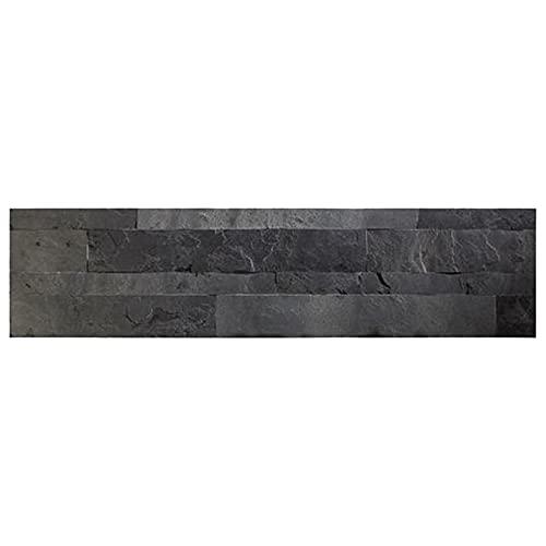 Revêtement mural en pierre véritable : Panneaux muraux en ardoise fine effet pierre noire