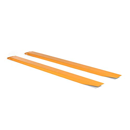 Titan Attachments Pallet Fork Extensions for Forklifts and Loaders, Slide On Clamp, 72-in x 4.5-in