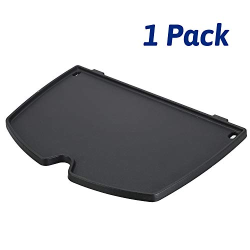 Utheer 6558 Grill Parts Cooking Griddle 12.6 x 8.6 inch for Weber Q100 Q120 Q1000 Q1200 Series Gas Grills, Matte Cast Iron