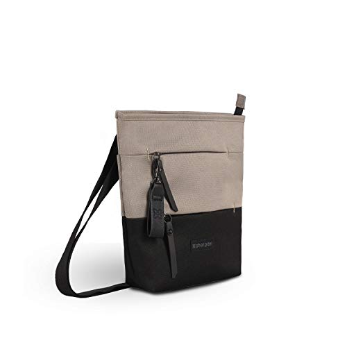 Sherpani Sadie, Nylon Crossbody Bag, Essential Messenger Bag, Lightweight Shoulder Bag, Fashion Purse, Medium Crossbody Purses for Women, RFID Protection, Mother's Day Gifts (Champagne)