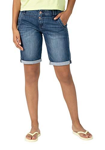 Timezone Damen Slim Nalitz Shorts, Blau (tarn Blue wash 3401), W25(Herstellergröße:25)