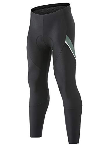 Santic - Pantalones de ciclismo para hombre, para invierno, acolchados, 4D, para bicicleta de carretera