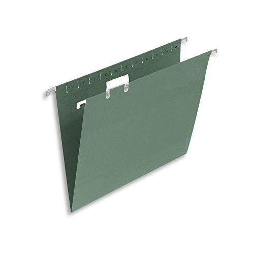 Elba Foolscap Hängemappe mit Registerkarte, 50 Stück Einzeln grün