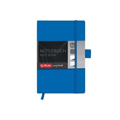 Herlitz 11369162 Notizbuch my.book Classic A6, 96 Blatt, kariert, blau