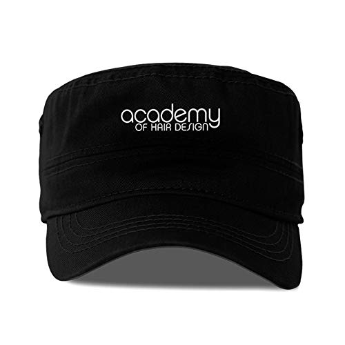 Career A Academy of Hair Design Logo Adult Flat Caps Mens and Womens Dad Hats Baseball Black Cap Easily Adjustable Suitable for Sports, Outdoor, Daily, Unisex Adult Flat Cap.