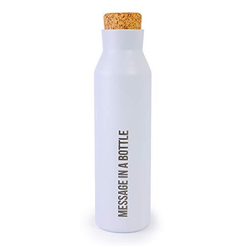 Botella térmica Inox Blanca 500 ml