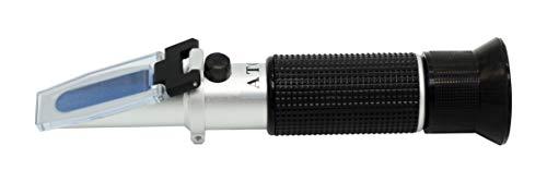 FSR Refraktometer ADBLUE Frostschutz Scheibenwischwasser mit ATC Batteriesäure Frostschutzprüfer für KFZ Solaranlage Batterie mit KALIBRIERFLÜSSIGKEIT 3013