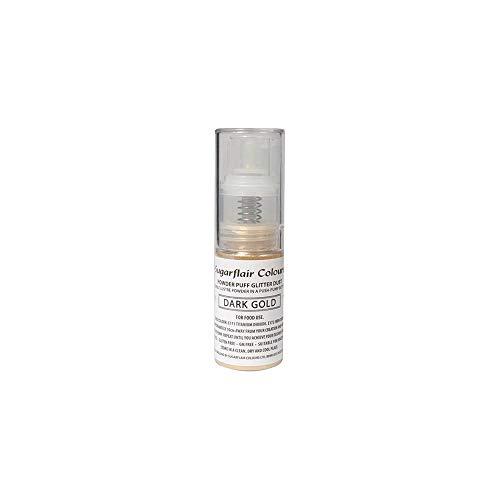 Sugarflair Powder Puff Glitter Nicht-Aerosol Spray - Kuchen Dekoration (Dark Gold (dunkles Gold))