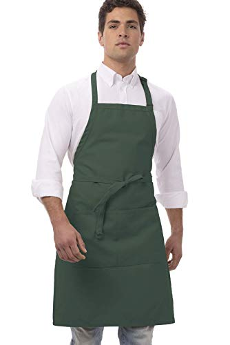Chef Works unisex adult Butcher Apron apparel accessories, Hunter Green, 34-Inch Length by 24-Inch Width US