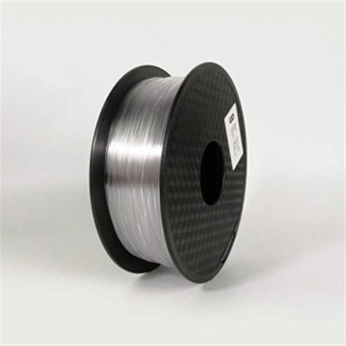 3D Printing Filament TPU Flexible Filament TPU filament Plastic for3D Printer 1.75mm Printing Materials Gray Black Red Color toughness (Color : Blue) GDSZMML (Color : Transparent)