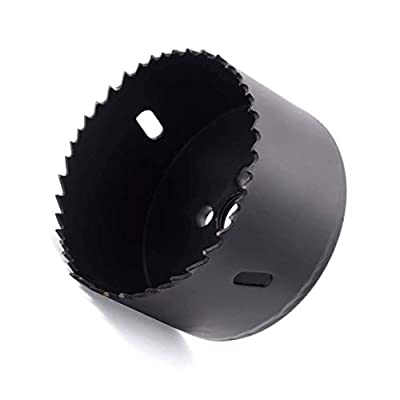 Hole Saw Blade with Heavy Duty Arbor for Cornhole Boards, Plywood, Iron board, Acrylic, Ducts, Ceiling lights, Cinder wall, High Speed Steel