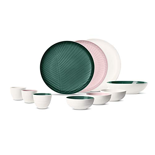 like. by Villeroy & Boch it\'s my match Geschirr-Set, Love Story, 19-teilig, Porzellan, mehrfarbig