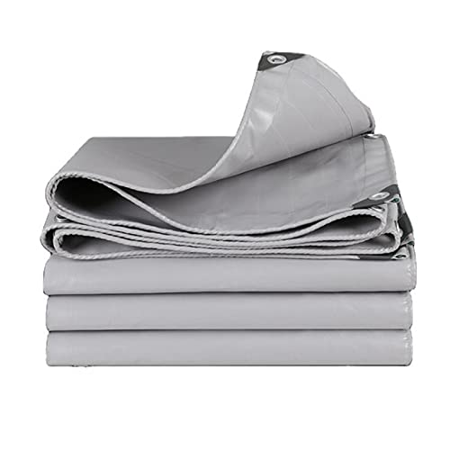 MWXFYWW Cubierta de Lona, Lona Impermeable con Revestimiento de PVC Protección Rayos UV, Lona de Protección para Exteriores Piscina, Lona Uso Pesado Plegable Multiusos con Ojales (Color:A;Size:4x5m)